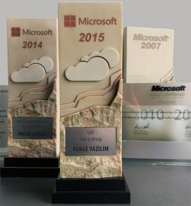 Pargesoft Microsoft yılın iş ortağı erp